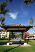 Five stars hotel beach front — Stock Photo