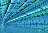 Futuristic tunnel — Stock Photo