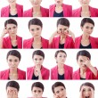 Various Human Face Expressions — Stock Photo