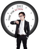 Motivational Photo: Time for Action — Stock Photo
