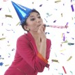 Beatufitul Woman Celebrating New Year — Stock Photo #7778877