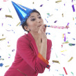 Beatufitul Woman Celebrating New Year — Stock Photo
