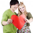 Happy Young Asian Caucasian Couple — Stock Photo