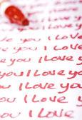 Valentine Photo Concept: Love letter — Stok fotoğraf