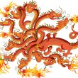 Royalty-Free Stock Vector Image: Dragon with twelve heads