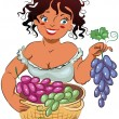 Gather grapes — Imagen vectorial