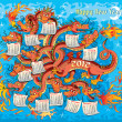 Dragon with twelve heads — Stock Vector #7346681