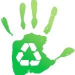 Handprint recycle — Stock Vector