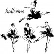 Ballerina dance - Stock Vector
