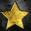 Stock Photo: Grunge star on metal background