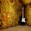 Stock Photo: Guitare in grunge textile room