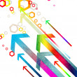 Colored hexagons with arrows — Stock Photo #7446540
