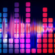 Equalizer sound waves - Stock Photo