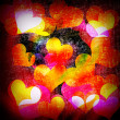 Grunge hearts background — ストック写真