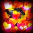 Grunge hearts background — Stock fotografie