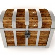 Wooden treasure chest — Lizenzfreies Foto