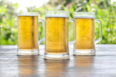 Three mug of beer — Stock Photo