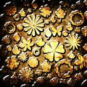 Textura de la tela floral grunge — Foto de Stock