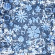 Blue grunge floral fabric texture — Stock Photo #7452784