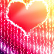 Glowing heart — Foto de Stock