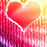 parlayan kalp — Stok fotoğraf