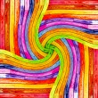 Colorful wooden twirl — Stock Photo