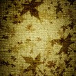 Grunge leaves on canvas - Stock Photo