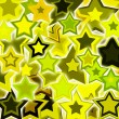 Yellow glowing stars — Stock Photo