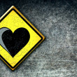 Royalty-Free Stock Photo: Love heart road sign