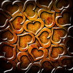 Valentine's day orange background — 图库照片