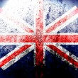 Dirty England flag - Stock Photo