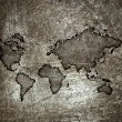 Worldmap on a steel background — Stock Photo