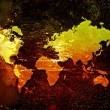 World map on a grunge background — Stock Photo #7456277