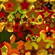 Grunge background with colorful stars - Stock Photo