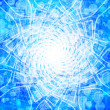 Blue glowing spiderweb — Stock Photo