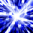 Tiled blue twisted blast - Stock Photo