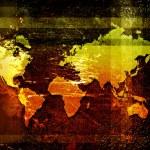World map on a grunge background — Stock Photo