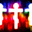 Glowing cross on a grunge background — Stock Photo