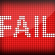 Fail — Stock Photo