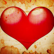 Stock Photo: Red heart grunge background