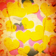 Foto Stock: Grunge hearts background