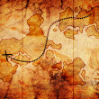 Old treasure map — Stock Photo #7459300