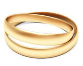 A set of gold wedding rings — Stock Photo