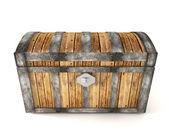 Treasure chest isolated on white background — Stock Photo