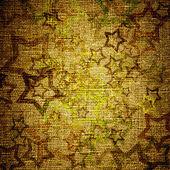 Abstract grunge stars on canvas — Stock Photo