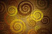 Grunge swirls on canvas — Stock Photo