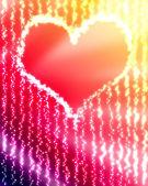 Gloeiende hart — Stockfoto