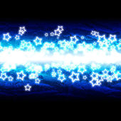 Stars on blue background — Stock Photo