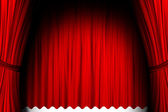 Red theater stage — Stock Photo