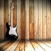 Guitare in old room — Stock Photo